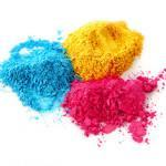 Process color chalk powder